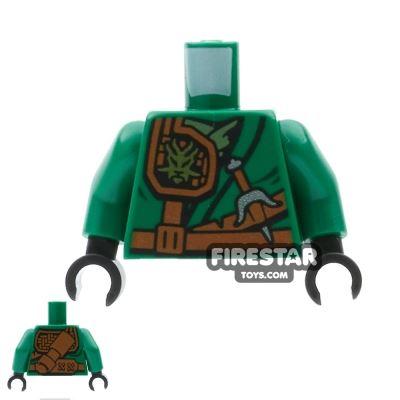 LEGO Mini Figure Torso - Ninjago - Green with Scabbard