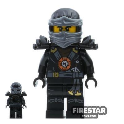 LEGO Ninjago Mini Figure - Cole - Black Outfit and Armour