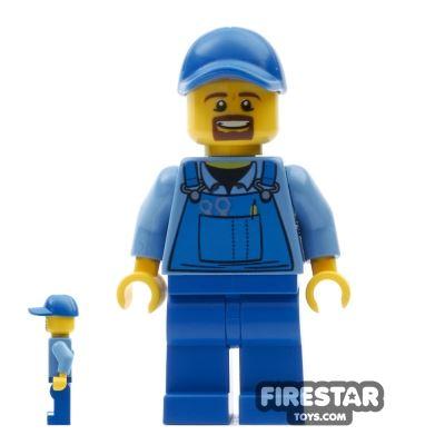 LEGO City Mini Figure - City Square - Blue Overalls