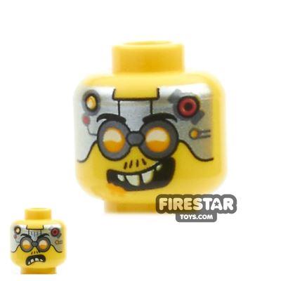 LEGO Mini Figure Heads - Metal Plates and Goggles