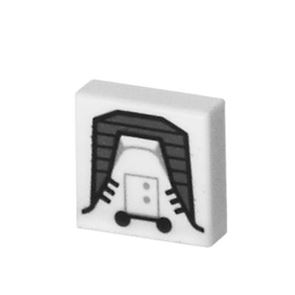 Printed Tile 1x1 - Galactic Empire Jet Pack