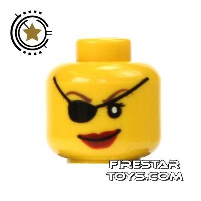 LEGO Mini Figure Heads - Female With Eyepatch