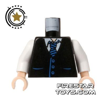 LEGO Mini Figure Torso - Waistcoat And Tie - Flesh