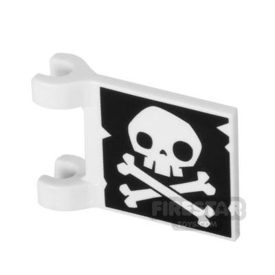 Printed Flag 2x2 - Skull and Crossbones - Jolly Roger