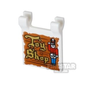Printed Flag 2x2 - Toy Shop Sign