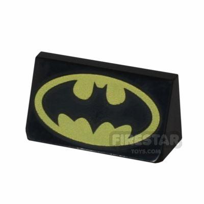 Printed Slope 1x2x2/3 Batman Logo