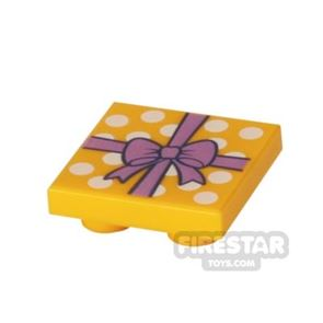 Printed Inverted Tile 2x2 - Gift Wrapped Present