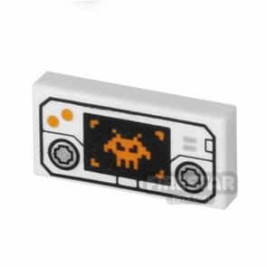Printed Tile 1x2 - Controller with Target