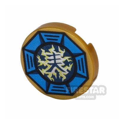 Printed Round Tile 2x2 - Airjitzu Lightning Symbol