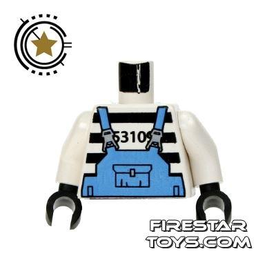 LEGO Mini Figure Torso - Prisoner