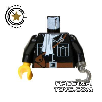 LEGO Mini Figure Torso - Jacket with White Scarf & Satchel