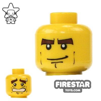 LEGO Mini Figure Heads - Heavy Eyebrows