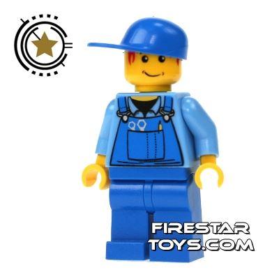 LEGO City Mini Figure - Overalls And Cap