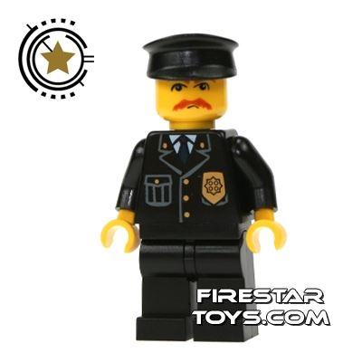 Lego City Mini Figure - Police - Black Hat