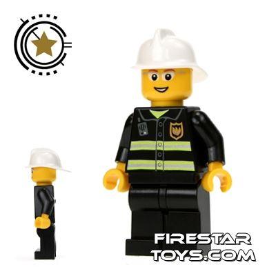 LEGO City Mini Figure – Fireman With Glasses