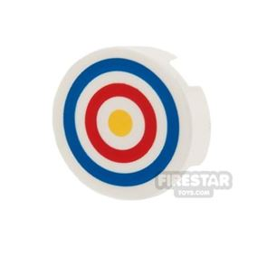 Printed Round Tile 2x2 - Archery Target
