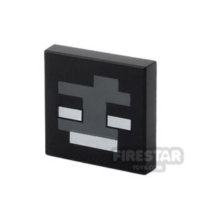 Printed Inverted Tile 2x2 - Minecraft Wither