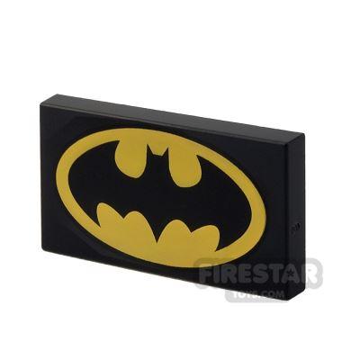 Printed Tile 2x4 - Batman Logo