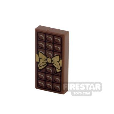 Printed Tile 1x2 - Chocolate Bar