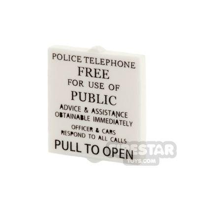 Printed Window 1x2x2 Police Telephone