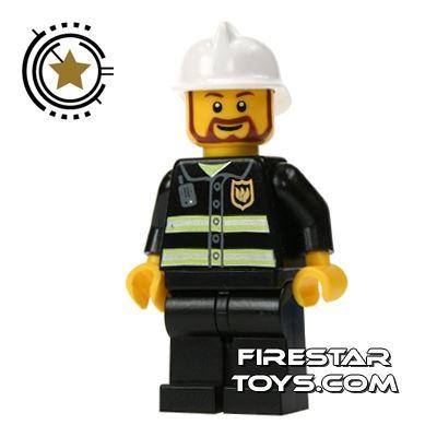 LEGO City Mini Figure – Fireman Brown Beard