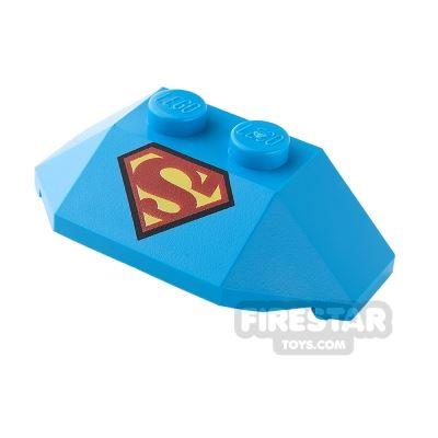 Printed Wedge 2 x 4 - Superman Logo - Dark Azure