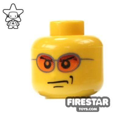 LEGO Mini Figure Heads - Orange Sunglasses
