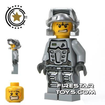 LEGO Power Miners Mini Figure - Power Miner Rex Gray