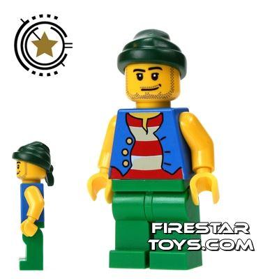 LEGO Pirate Mini Figure - Pirate Green Legs and Bandana