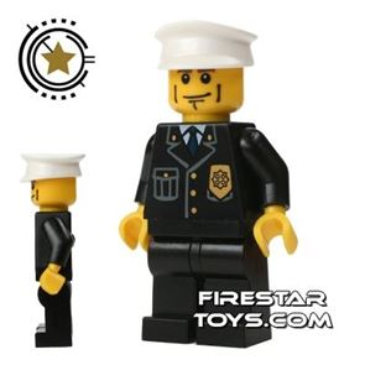 Lego City Mini Figure � Police - Cheek Lines