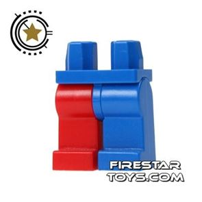 LEGO Minifigure Legs - Blue And Red - Jester