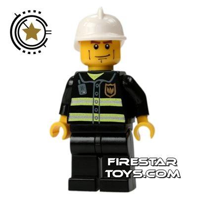 LEGO City Mini Figure – Fireman With Cheek Lines