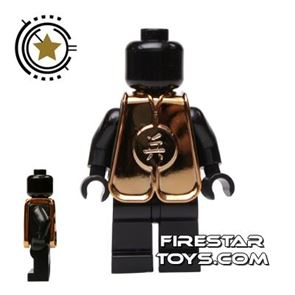 BrickTW - Ching Dynasty Army Clothing - Gold Plated