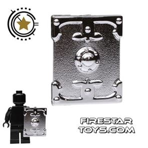 BrickTW - Rectangle Shield - Silver Plated