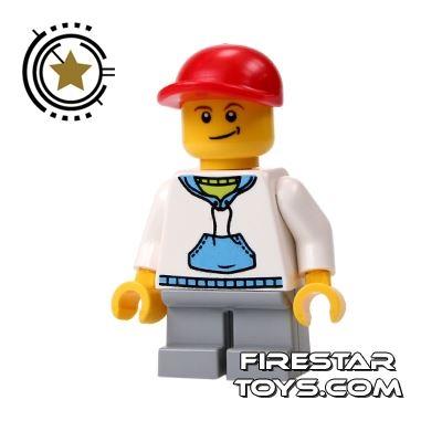 LEGO City Mini Figure - Boy Wearing Hoodie And Cap