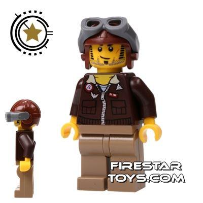 LEGO Pharaoh's Quest Mini Figure - Jake Raines Aviator Hat