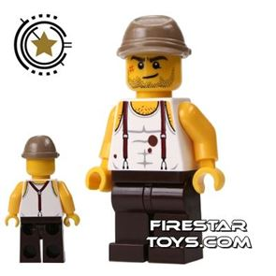 LEGO Pharaoh's Quest Mini Figure - Mac McCloud - Kepi