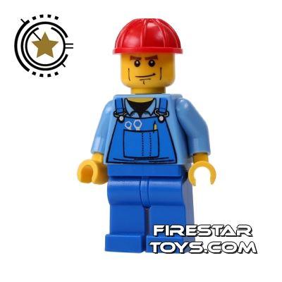 LEGO City Mini Figure - Overalls And Red Cap