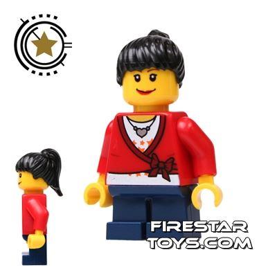 LEGO City Mini Figure - Wrap Top - Short Legs