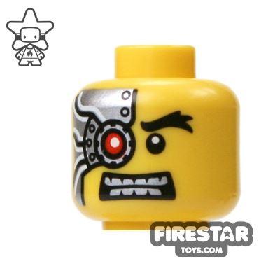 LEGO Mini Figure Heads - Mechanical Red Eye