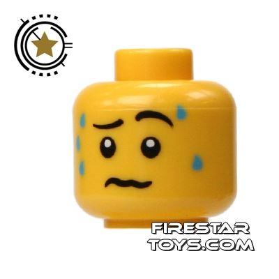 LEGO Mini Figure Heads - Worried Expression