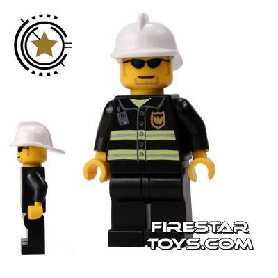 LEGO City Mini Figure – Fireman Black Sunglasses