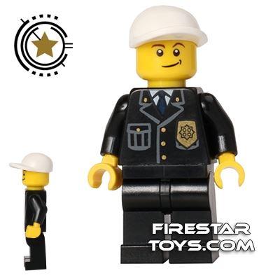 Lego City Minifigure Police Crooked Smile