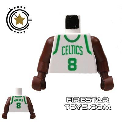 LEGO Mini Figure Torso - NBA Celtics - Player 8