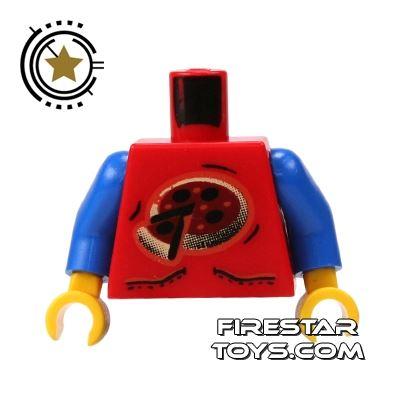 LEGO Mini Figure Torso - Pizza Logo