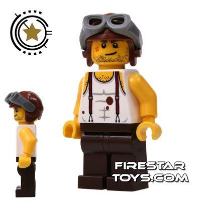 LEGO Pharaoh's Quest Mini Figure - Mac McCloud - Aviator Helmet