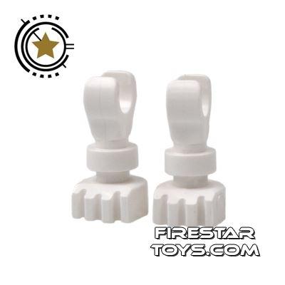 LEGO Mini Figure Legs - Skeleton Legs - White