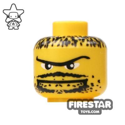 LEGO Mini Figure Heads - Heavy Stubble