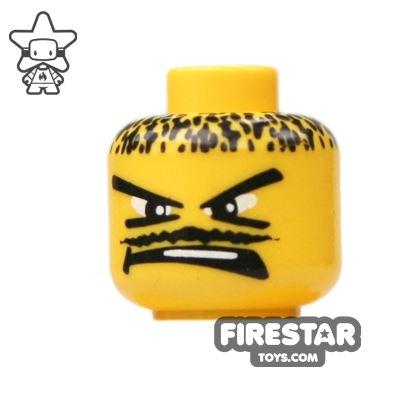 LEGO Mini Figure Heads - Thin Moustache