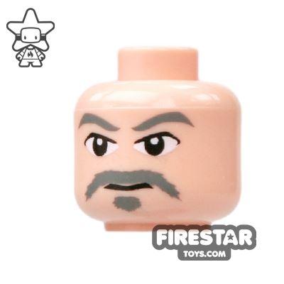 LEGO Mini Figure Heads - Gray Moustache